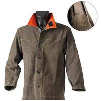 Veste cuir croute JACK (Taille XL) pour tous travaux de bricolage couleur brun avec double coutures et poche renforcée