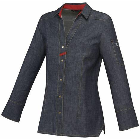 Veste de cuisine femme manches longues Robur Verveine 100 % coton