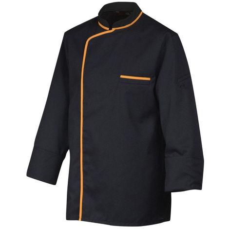 Veste de cuisine manches longues Robur SYNERGIE Noir / Orange