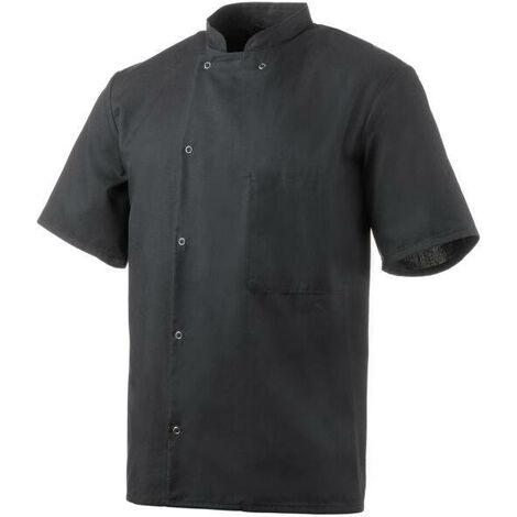 """main image of """"Veste de cuisine noire manches courtes Robur"""""""