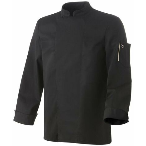 Veste de cuisine mixte manches longues Robur Nero