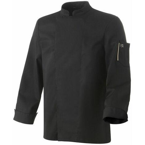 Veste de cuisine mixte manches longues Robur Nero Noir