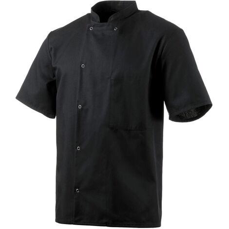 Veste de cuisine noire manches courtes Robur