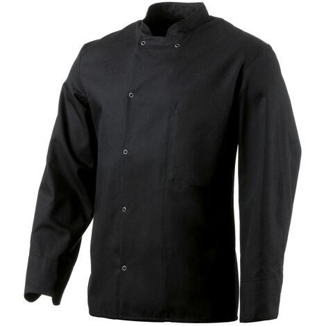 Veste de cuisine noire manches longues Robur