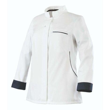 Veste de cuisine respirante manches longues FEMME ROBUR ESCALE Blanc / Bleu S