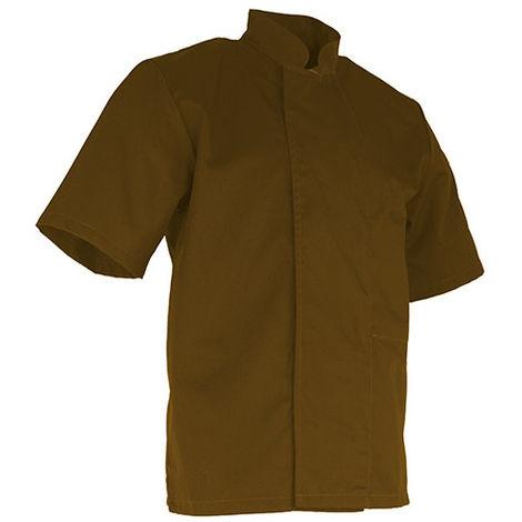 Veste de cuisinier à manches courtes - BISCUIT - Beige