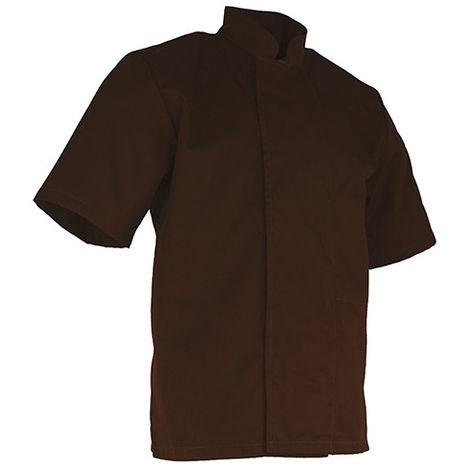 Veste de cuisinier à manches courtes - CHOCOLAT - Marron