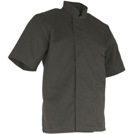 Veste de cuisinier à manches courtes - FROMAGER - Gris