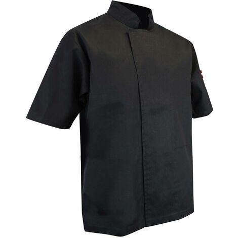 Veste de cuisinier à manches courtes pressions cachées - ECUMOIRE - Noir
