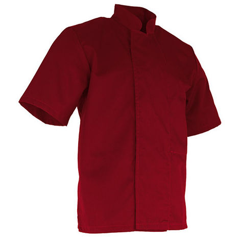 Veste de cuisinier à manches courtes - TARTINE - Rouge