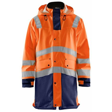 Haute Visibilité Orange Jaune Demi-Zippé Hi Vis Viz Col Vêtements de Travail