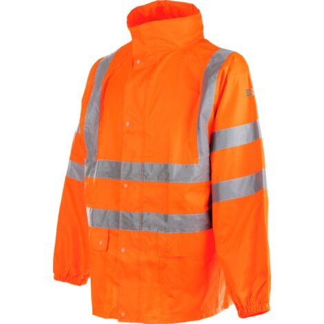 Veste de pluie haute visibilité EN 20471 3.2 et EN 343 3.1 Würth MODYF orange