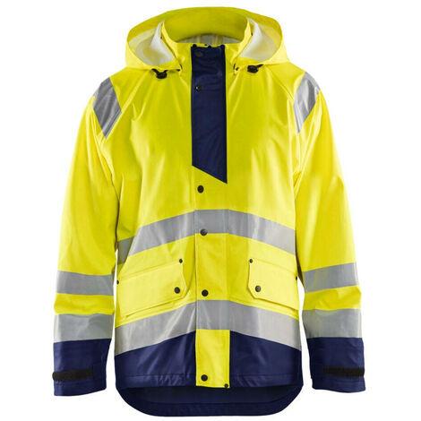 Veste de pluie haute-visibilité niveau 3 - 3389 Jaune fluo/Marine 43272005 - Blaklader