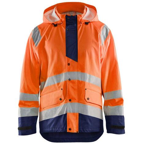 Veste de pluie haute-visibilité niveau 3 - 5389 Orange fluo/Marine 43272005 - Blaklader