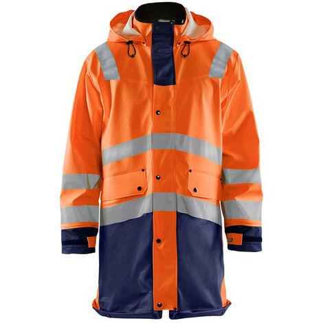 Veste de pluie haute-visibilité niveau 3 - 5389 Orange fluo/Marine - Blaklader