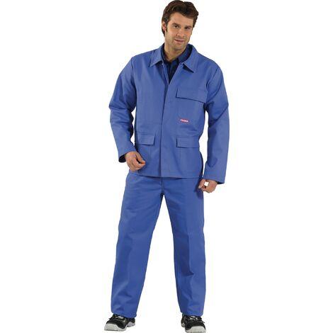 Veste de protection pour soudeur Taille 46 bleu bleuet 100 % coton