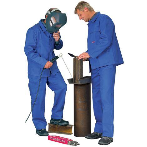 Veste de protection pour soudeur Taille 50 bleu bleuet 100 % coton