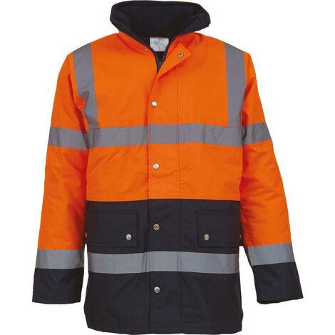 Veste de sécurité bicolore haute visibilité YOKO GO/RT 3279 Orange / Marine