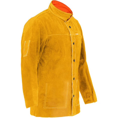 Stamos Veste De Soudeur Cuir Vêtement Soudure Protection Taille L