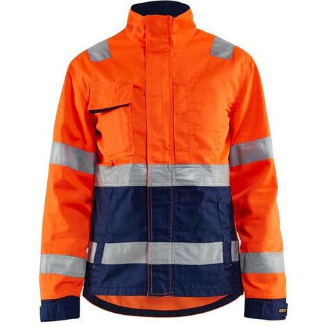 Veste de travail haute visibilité femme Blaklader Classe 2 Orange / Marine 3XL