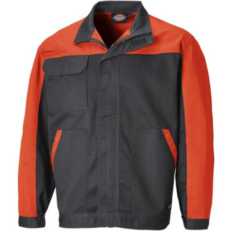 Veste de travail multipoches bicolore EVERYDAY Gris / Orange - DICKIES - ED24/7JK