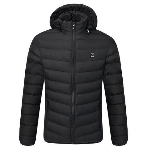 Veste en coton chauffante intelligente en hiver, veste en coton chauffante ¨¤ chargement USB