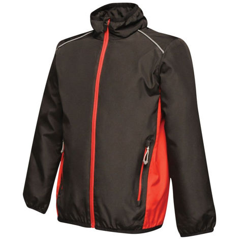 Veste Enfant Regatta Great Outdoors Activewear ATHENS TRACK Noir / Rouge