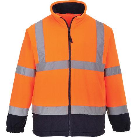 Veste haute visibilité Bleu marine/Orange en Polaire, Homme RS PRO, taille L Haute visibilité