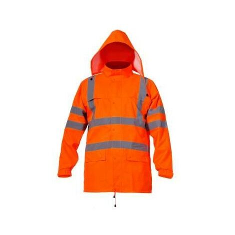 Veste orange pluie avertissement Pro L40914 Lahti