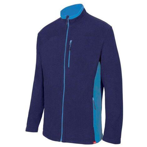 Veste polaire bicolore microfibre 5 poches 100% polyester 220 gr/m2 - Noir/Rouge - 201504 - Velilla