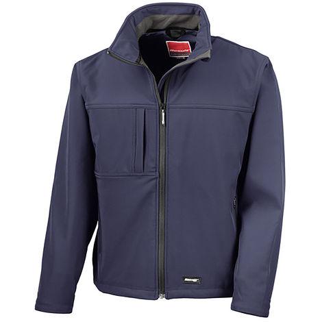 Veste Softshell Bleu marine en Elasthanne, polyester, Homme RS PRO, Imperméable, taille L