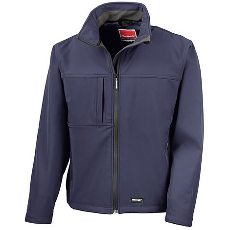 Veste Softshell Bleu marine en Elasthanne, polyester, Homme RS PRO, Imperméable, taille M