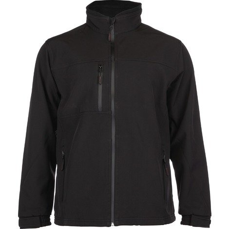 Veste Softshell doublure polyester micro polaire Yang Outibat - Noir - Taille S