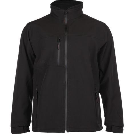 Veste Softshell doublure polyester micro polaire Yang Outibat - Noir - Taille XL