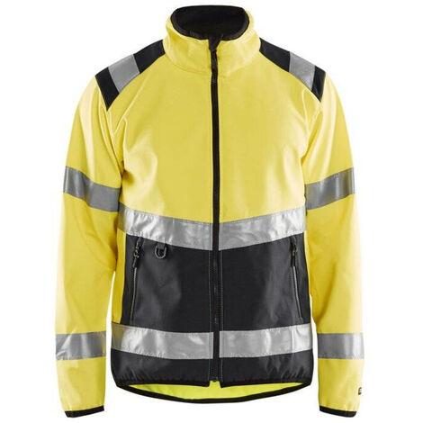 Veste softshell haute-visibilité - 3399 Jaune fluo/Noir - Blaklader