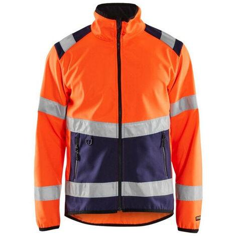 Veste softshell haute-visibilité - 5389 Orange fluo/Marine - Blaklader