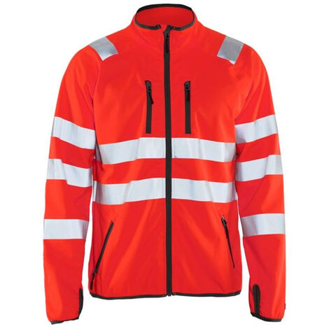 Veste softshell haute-visibilité - 5500 Rouge fluo - Blaklader