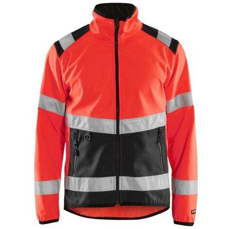 Veste softshell haute-visibilité - 5599 Rouge fluo/Noir - Blaklader