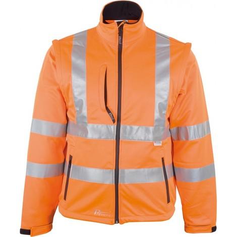 Veste softshell Haute visibilité Taille XL, jaune fluo