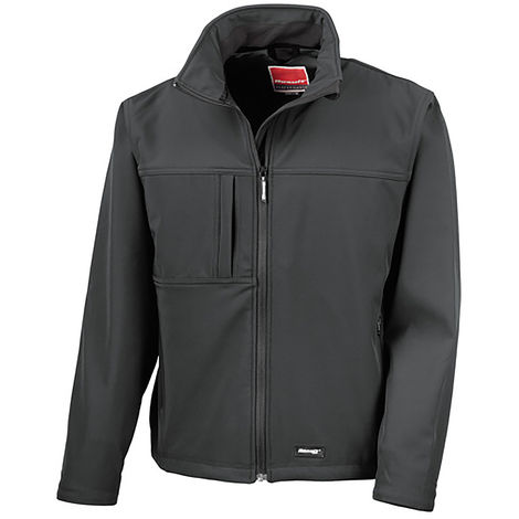 Veste Softshell Noire en Elasthanne, polyester, Homme RS PRO, Imperméable, taille XXL