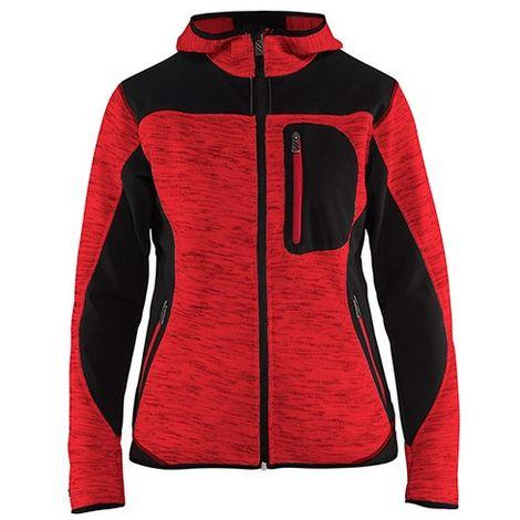 Veste tricotée à capuche femme - 5699 Rouge/Noir - Blaklader