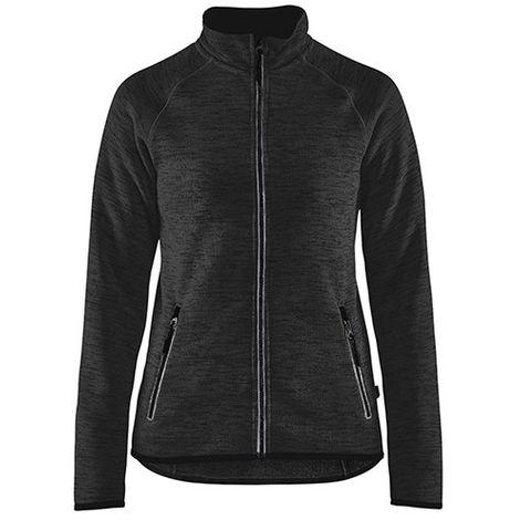 Veste tricotée femme - 9710 Gris Anthracite/blanc - Blaklader