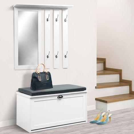 vestiaire d entr 233 e luxe en bois blanc meuble chaussures