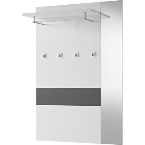 Vestiaire entrée coloris Anthracite / Blanc 100 / 149 / 26 cm