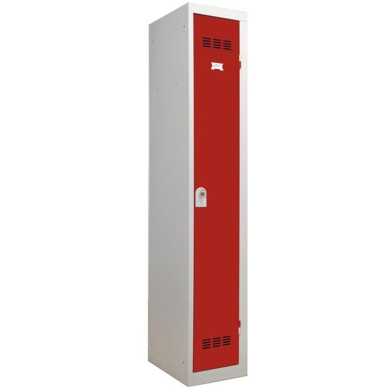 Vestiaire industriel métal 1 porte rouge - Rouge