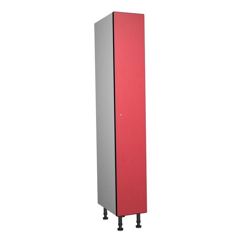 Taquillea - Vestiaire Phénolique, 1 Porte 1 Colonne, 317x1800x500 mm, Serrure À clé Rouge