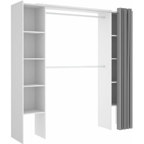 Vestidor con cortina Suite 180-110 cm Blanco