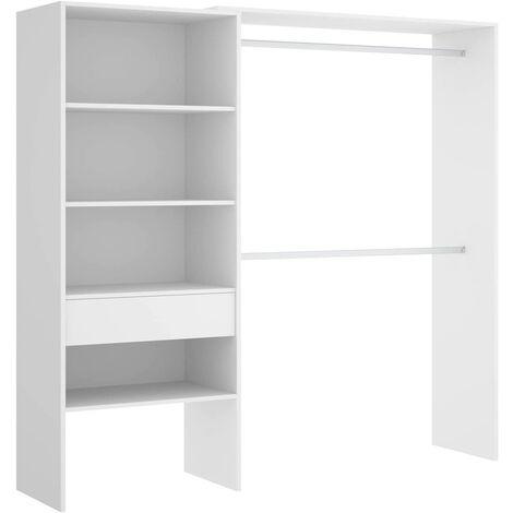 Vestidor para Dormitorio o Recibidor en color Blanco, tres baldas, medidas: Alto: 187 cm x Fondo: 40 cm x Ancho: 160 cm