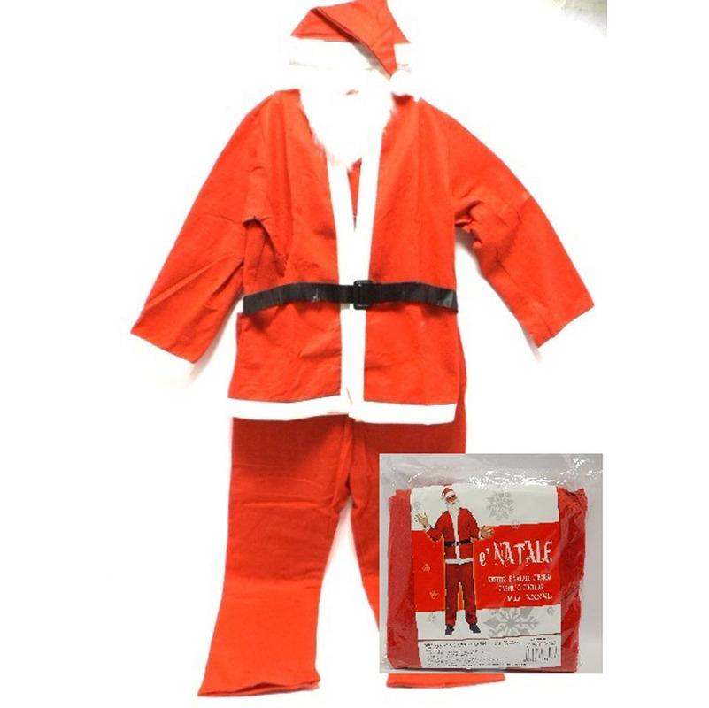 Vestito Babbo Natale Taglia 60.Vestito Babbo Natale Con Barba Cappello Cintura Xxxxl Regalo Accessori Natale