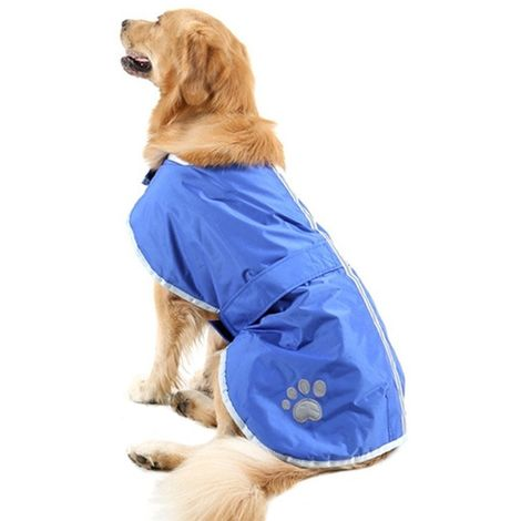 Vêtements bleu Automne et Hiver Style Oren Retriever Labrador Huge Chien Coton Vêtement avec ruban réfléchissant, Taille: XXL, B